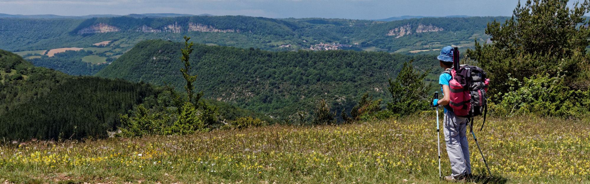 Crête de Négalières - Vue sur Cornus